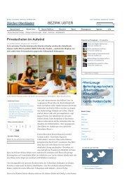 Privatschulen im Aufwind - Rudolf Steiner Schule Schaffhausen