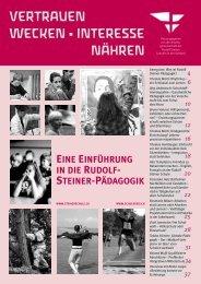Vertrauen wecken • interesse nähren - Rudolf Steiner Schule Bern ...