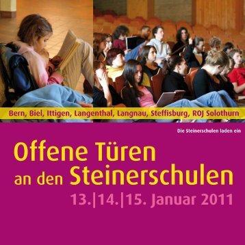 Offene Türen an den Steinerschulen - Rudolf Steiner Schule Berner ...