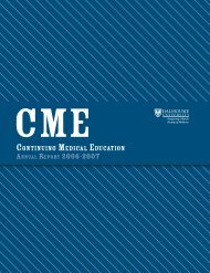 CME Annual Report 2006 - Continuing Medical Education ...