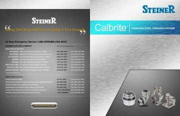 Calbrite products brochure - Steiner Electric Company