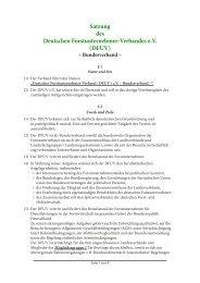 Satzung - PDF - Deutscher Forstunternehmer Verband e.V.