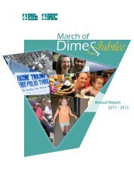 Annual Report 2011 - Ontario March of Dimes