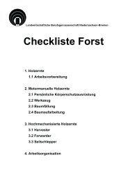 Checkliste Forst, PDF Formular