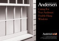 Andersen Wood Windows Care and Maintenance - Steiner Homes ...