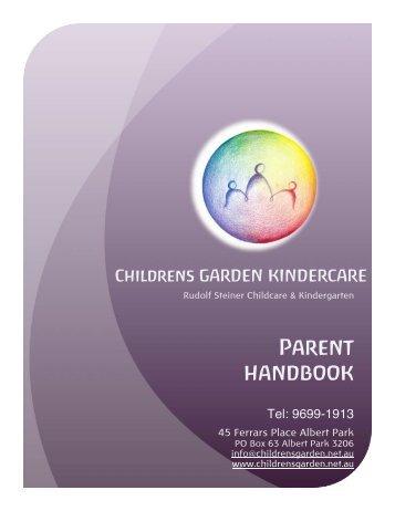 CGK Parent Handbook - ORIGINAL - Children's Garden Kindercare