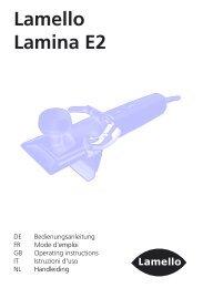 Lamello Lamina E2 - Axminster Tool Centre