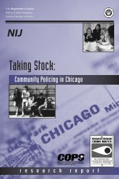Taking Stock: Community Policing in Chicago - National Criminal ...