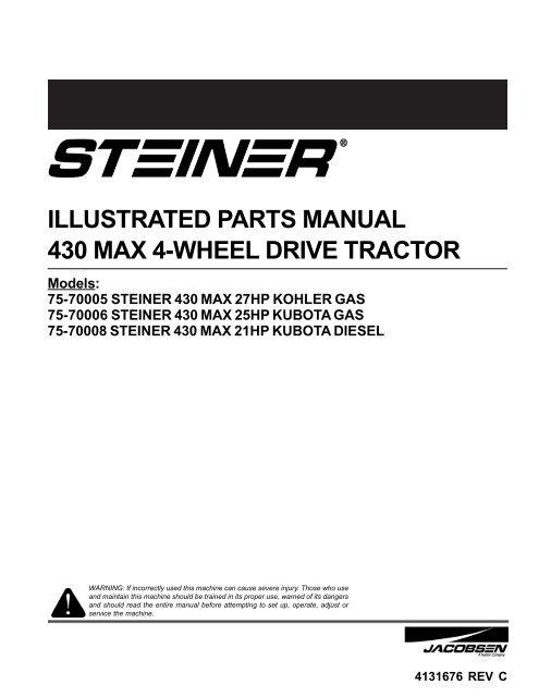 illustrated parts manual 430 max 4 wheel drive tractor caribe turf illustrated parts manual 430 max 4 wheel drive tractor caribe turf