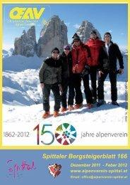 Spittaler Bergsteigerblatt 166 - Alpenverein Spittal/Drau