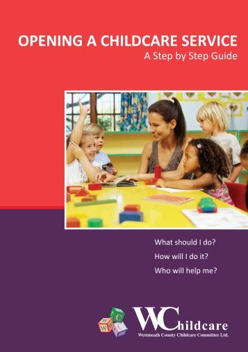 opening a childcare service - Westmeath County Childcare Committee