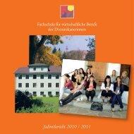 Jahresbericht 2010/11 - Fachschule für wirtschaftliche Berufe der ...