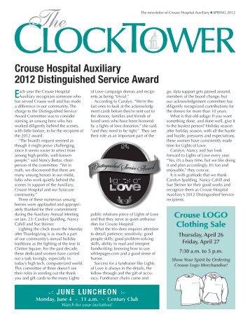 Crouse Hospital Auxiliary 2012 Distinguished Service Award