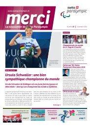 Ursula Schwaller : une bien sympathique championne du monde