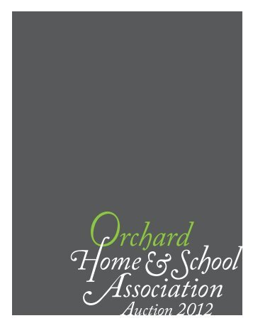 Auction Program - Orchard Elementary School