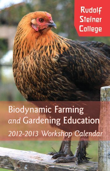 Biodynamic Farming and Gardening Education - Rudolf Steiner ...