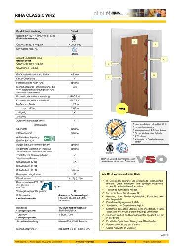 Produktblatt als pdf downloaden - Riha Sicherheit