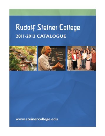 College Catalogue - Rudolf Steiner College