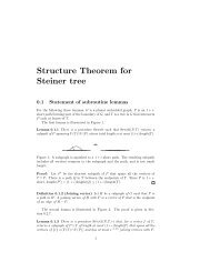 Structure Theorem for Steiner tree