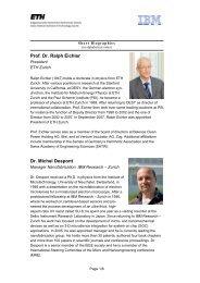 Prof. Dr. Ralph Eichler Dr. Michel Despont - IBM Zurich Research ...