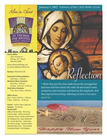 1-1-12 - St. Thomas The Apostle