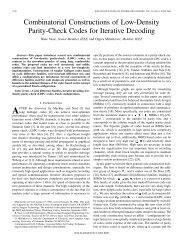 Combinatorial Constructions of Low-Density Parity-Check Codes for ...