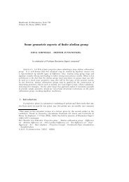 Some geometric aspects of finite abelian group - Dipartimento di ...