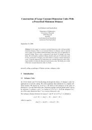 Construction of Large Constant Dimension Codes With a Prescribed ...