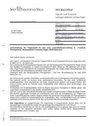 Ausschreibung (pdf, 46 KB) - Frankfurt am Main