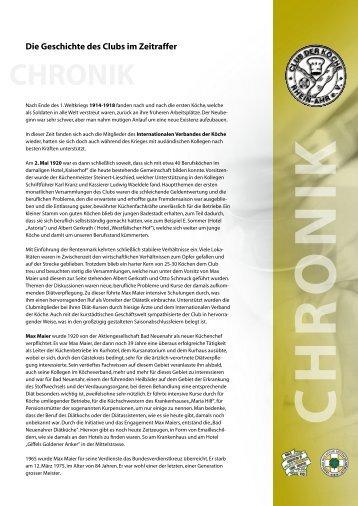 CHRONIK - Club der Köche Rhein Ahr eV