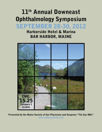 11th Annual Downeast Ophthalmology Symposium September 28 ...