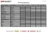 ATV Personalplaung 01.01.2013 - 2017