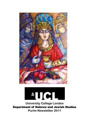 Departmental Newsletter Spring 2011 - University College London