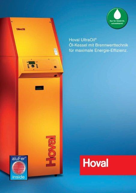 Hoval UltraOil® Öl-Kessel mit Brennwerttechnik für maximale ...