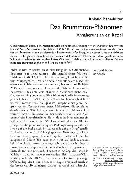 08 Benedikter-Brummton Kopie - Die Drei