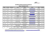 Zertifizierte Wärmepumpeninstallateure Stand: Dezember 2012