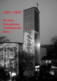 50 Jahre Evangelische Trinitatiskirche Bonn