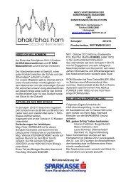 Rundschreiben September 2012 - HAK- und HAS Horn