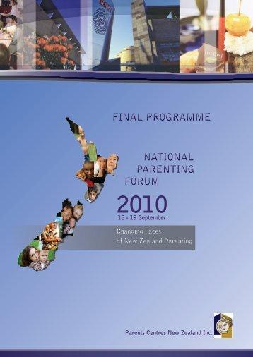 FINAL PROGRAMME NATIONAL PARENTING FORUM ... - kiwi parent