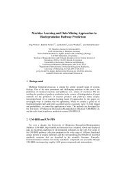 Machine Learning and Data Mining Approaches to Biodegradation ...