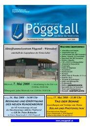 Gemeindezeitung 1/08 (0 bytes) - Gemeinde Pöggstall