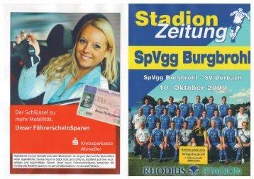 Stadionheft 10.10.09 gegen SV Dörbach - SG Brohltal Burgbrohl