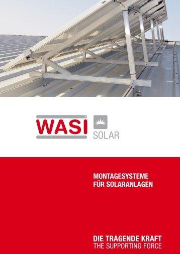 MontagesysteMe für solaranlagen - wasi.de