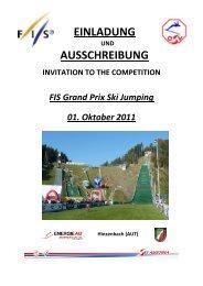 Ausschreibung Hinzenbach FIS Grand Prix 1 Okt 2011 - Stefan Kraft