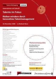 Programm Talente im Fokus (1,4 MB) - Bonner Fachtagung
