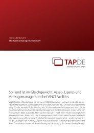 Soll und Ist im Gleichgewicht - TAP.DE Desktop Solutions GmbH