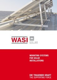 MOUNTING SYSTEMS FOR SOLAR INSTALLATIONS - Wasi