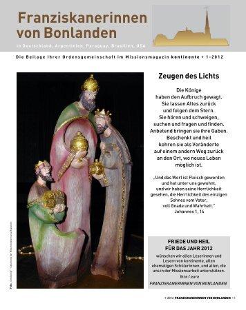 Franziskanerinnen von Bonlanden - kontinente