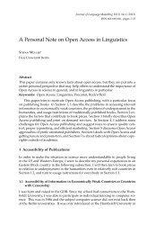Open Access - German Grammar Group FU Berlin - Freie Universität ...