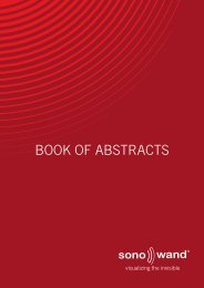 SonoWand Book of Abstracts PDF